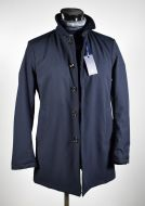 Adimari modern fit blue waterproof trench coat