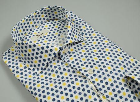 Camicia ingram in cotone stampato vestibilità slim fit