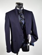Blue dress musani ceremony slim fit with waistcoat and tie