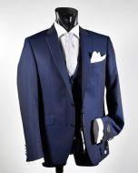 Abito blu elegante slim fit digel ceremony completo con gilet