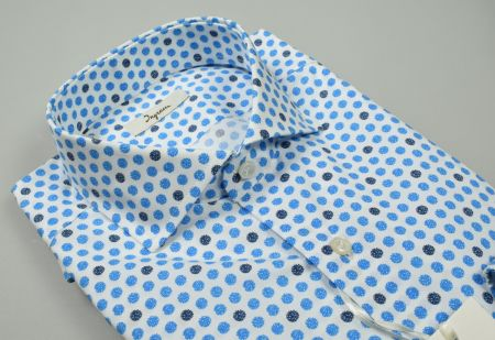 Ingram patterned shirt in printed cotton slim fit fit