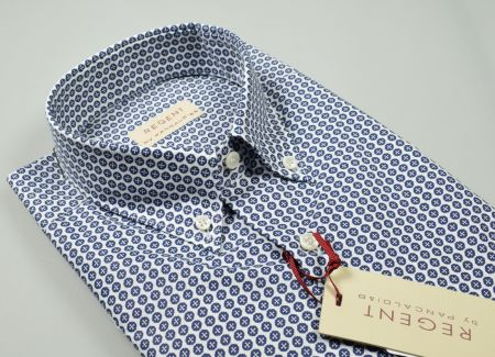 Camicia pancaldi in cotone stampato regular fit