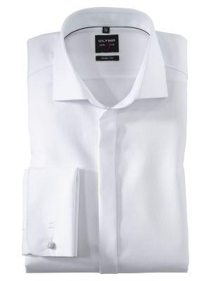 Camicia bianca elegante da cerimonia olymp con polso doppio