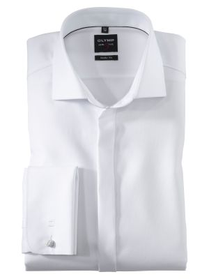 Elegant white shirt with olymp ceremony with double wrist