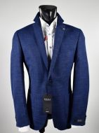 Blue jacket mixed linen unlined digel drop six modern fit