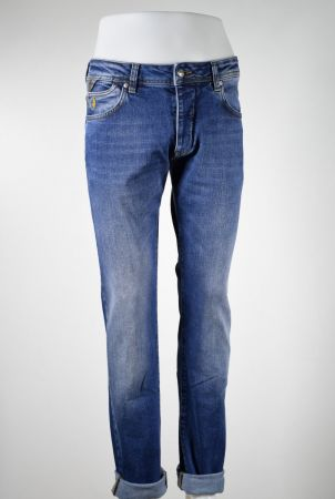 Jeans mcs denim elasticizzato effetto vissuto