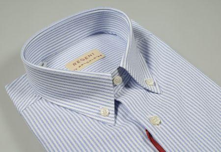 Camicia pancaldi a righe celeste chiaro regular fit