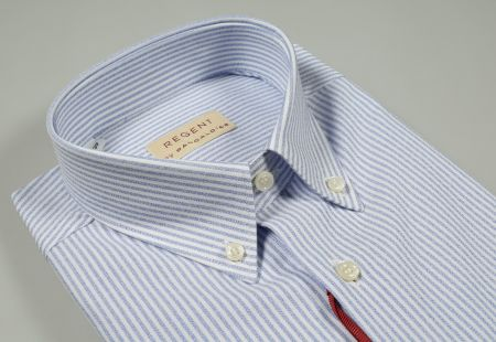 Light blue striped pancaldi shirt regular fit