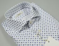 Slim fit cotton ingram shirt with printed pattern