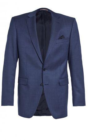 Navy blue digel dress drop four short pure wool 120's