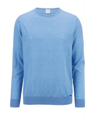 Olymp neck sweater in extra fine merino wool and silk