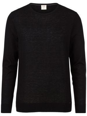 Maglione giro collo olymp in lana merino extra fine e seta