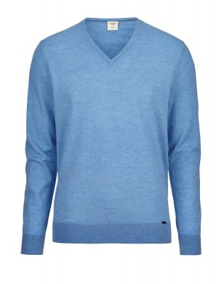 Olymp V-neck sweater in extra fine merino wool and silk
