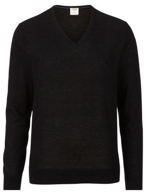 Maglione pullover collo a V olymp in lana merino extra fine e seta