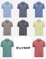 Polo olymp slim fit cotone piquè elasticizzato otto colori