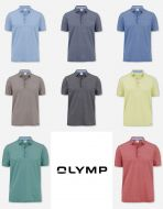 Polo olymp slim fit cotton piquè stretched eight colors