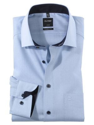 Olymp luxor shirt in pure cotton oxford no modern fit ironing