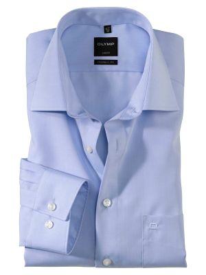 Camicia olymp luxor in cotone chambray no stiro modern fit