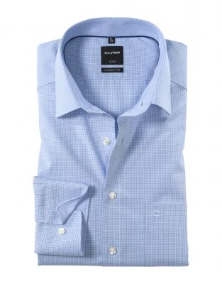 Camicia olymp a quadretti in cotone facile stiro modern fit