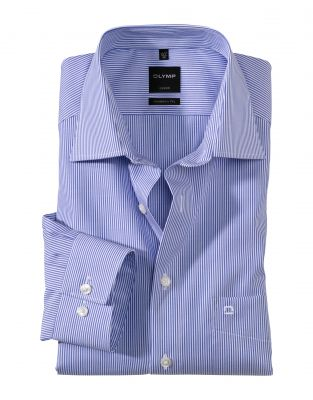Blue striped shirt olymp modern fit cotton ironing easy
