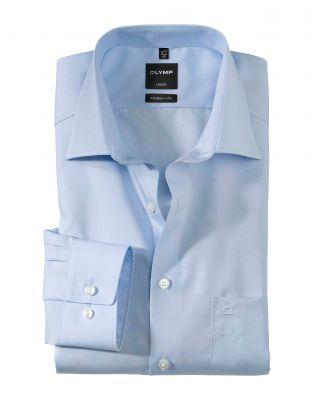 Camicia olymp luxor in cotone liscio no stiro modern fit