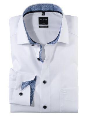 White shirt olymp cotton no modern fit ironing