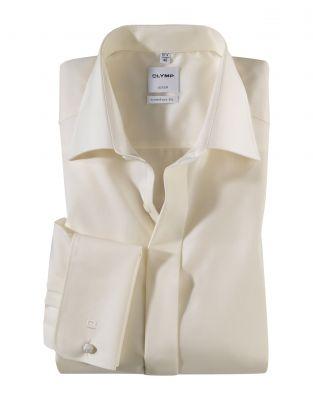Camicia elegante olymp comfort fit con polso doppio per gemelli