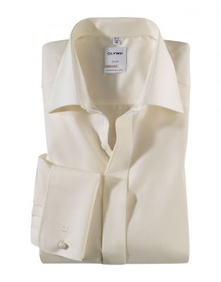 Elegant shirt olymp comfort fit with double wrist for twins