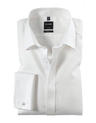 Camicia elegante olymp modern fit con polso doppio per gemelli