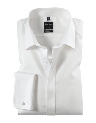 Elegant shirt olymp modern fit with double wrist for twins