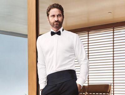 Camicia olymp collo diplomatico modern fit polso doppio per gemelli