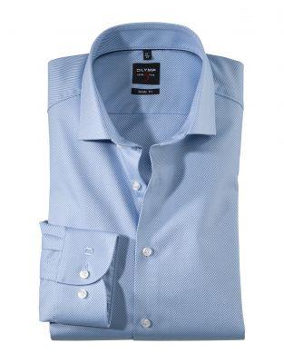 Camicia olymp level five in cotone twill facile stiro slim fit