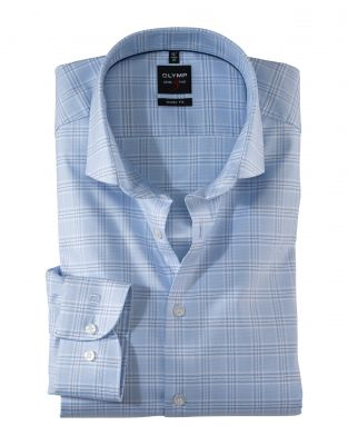 Celestial plaid shirt olymp slim fit cotton twill stretch