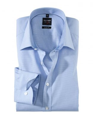 Small checked shirt olymp level five slim fit