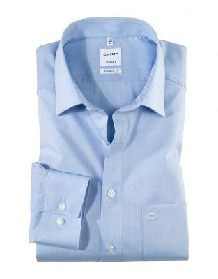Camicia classica Olymp modern fit cotone chambray facile stiro