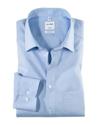 Classic shirt Olymp modern fit cotton chambray easy ironing