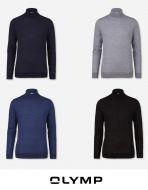 Maglione dolcevita body fit olymp in lana e seta pettinata