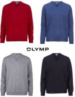 Olymp pointy neck sweater in extra fine merino combed wool