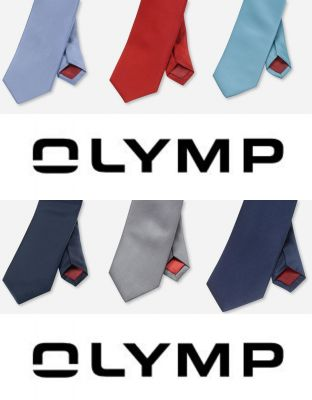 Classic olymp silk classic tie in six colors
