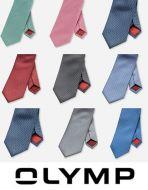 Cravatta con micro disegno in seta pura olymp in otto colori