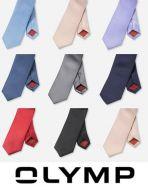 Cravatta slim in seta pura olymp in otto colori
