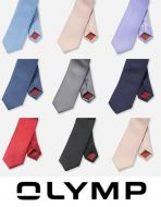 Slim tie in pure silk olymp in eight colors