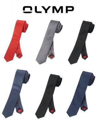Cravatta moda super slim in seta pura olymp in cinque colori