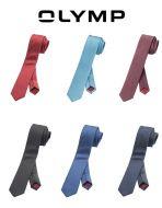 Cravatta moda olymp super slim in seta micro disegno in sei colori