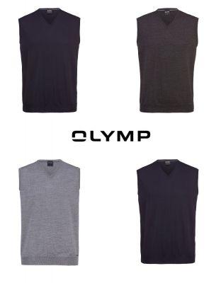 Gilet olymp con collo a v in pura lana pettinata