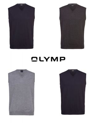 Olymp waistcoat with v-neck in pure combed wool