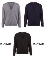 Cardigan buttoned olymp the merino wool combed