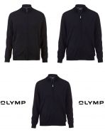 Cardigan con zip olymp il lana merino pettinata