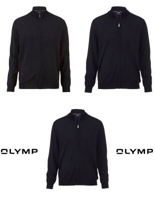 Cardigan with zip olymp the combed merino wool