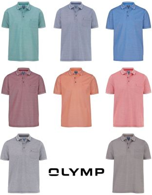 Polo olymp modern fit cotone piquè facile stiro otto colori